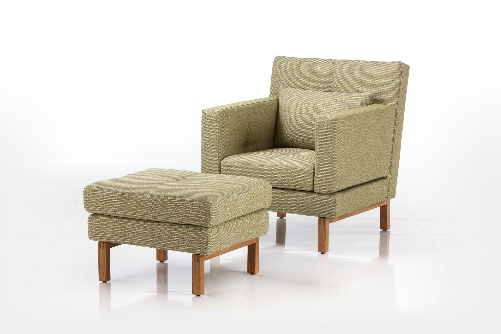 brühl Sessel Hocker Relax grün amber