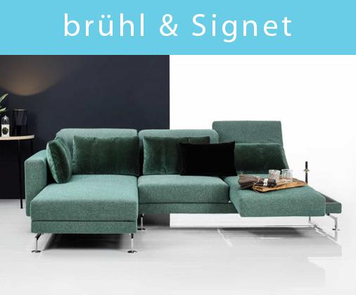 Sofas von brühl und Signet