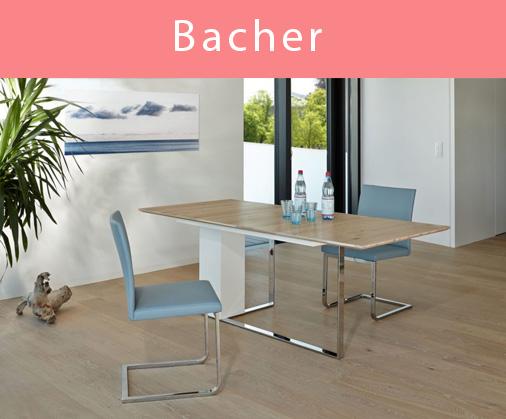 Esstische und Stühle von Bacher