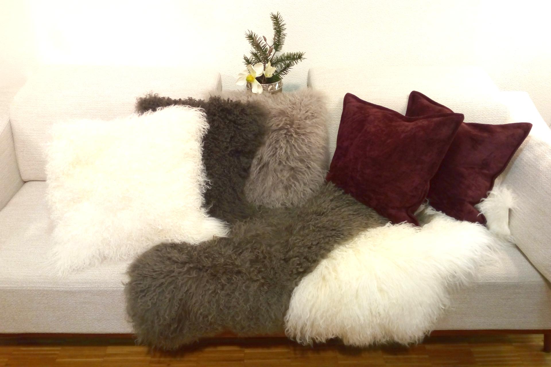 Weihnachten Dekoration Geschenke Home Kissen Lammfell