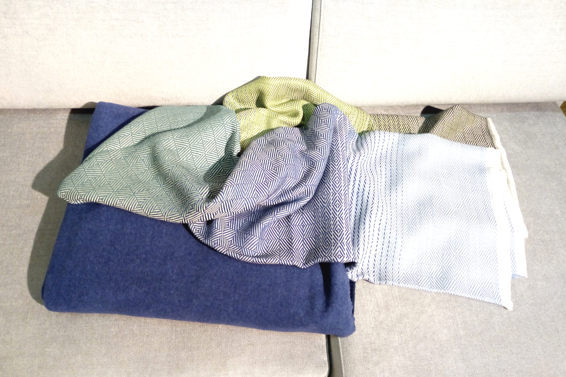 Decken Plaids Home Heimtextilien Frühling Sommer Farben blau grün türkis