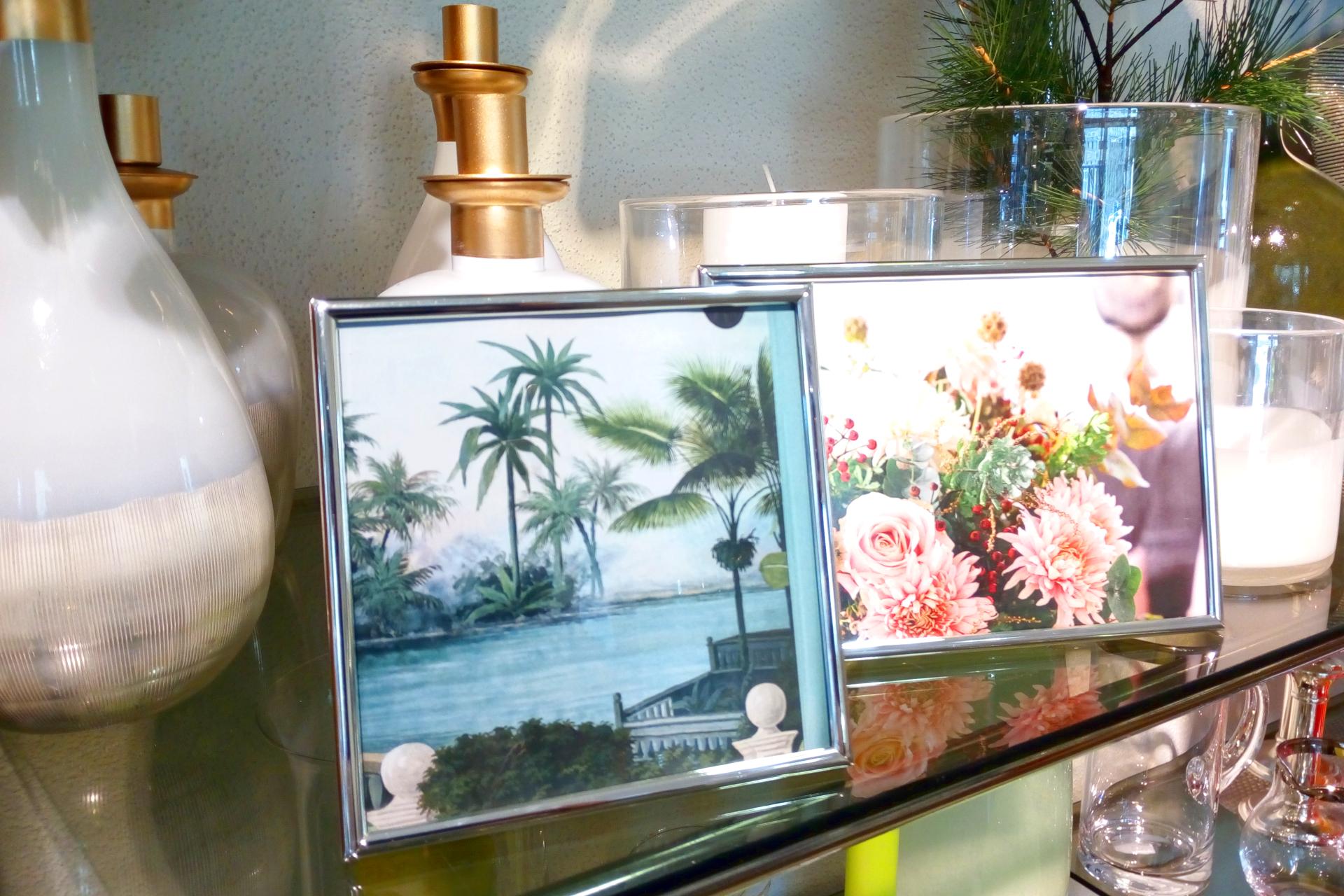 Wohnstudio Dekoration Geschenkideen Bilderrahmen Vasen Blumen Glas