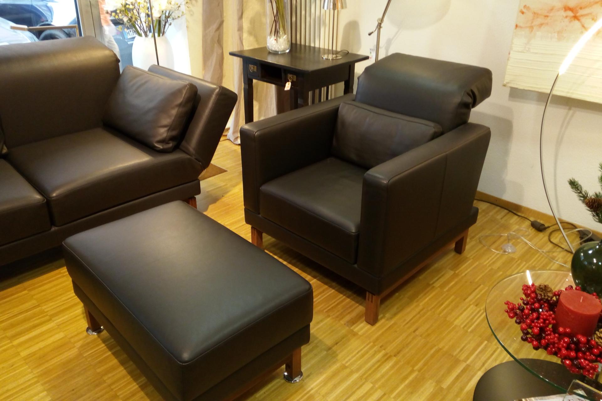 Ausstellungs-Angebote brühl moule Sessel Hocker Relax Leder