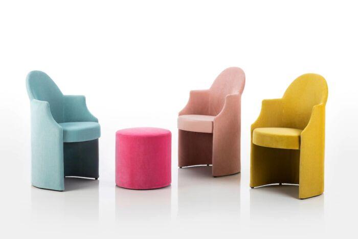 brühl Stuhlsessel Hocker Esstischhöhe Rollen Kufen Farben klassisch armand