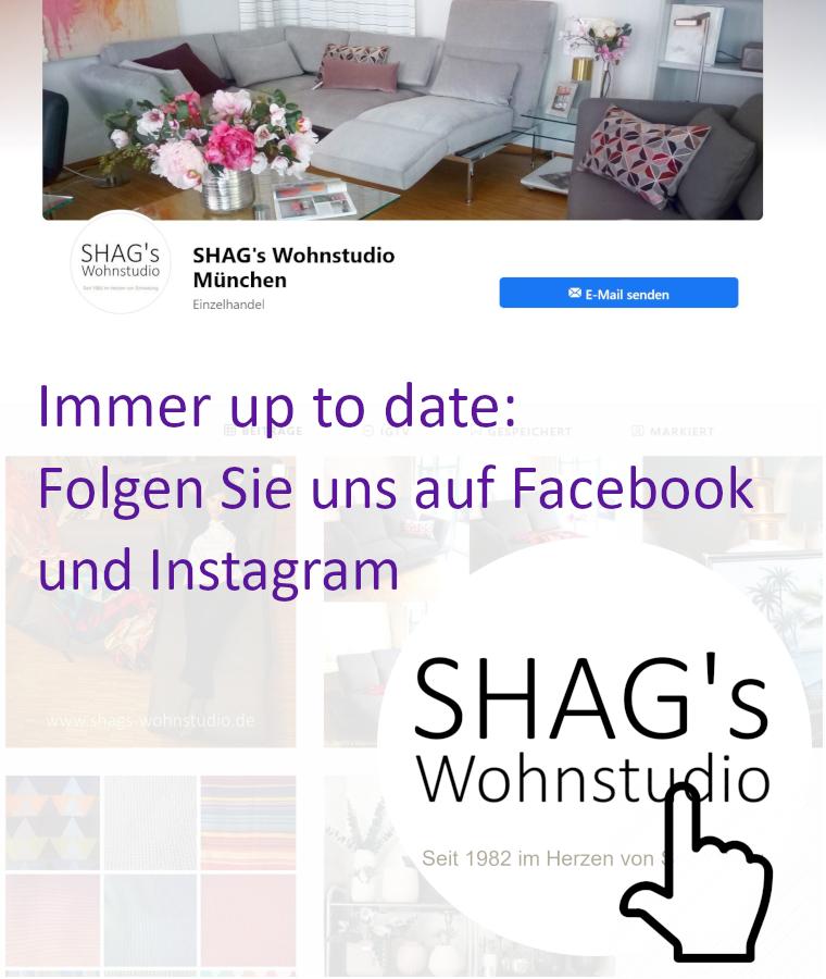 SHAGs Wohnstudio München Funktionssofas Schlafsofas Couchtische Beistelltische Design Home Decor Accessoires Facebook Instagram