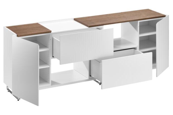 Bacher Sideboards Anrichten Kommoden Holz Glas Metall Kufen