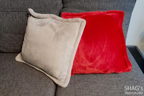 SHAGs Wohnstudio München Decken Wohnen Geschenkartikel ClickandCollect CallandCollect Kissen Rand grau rot