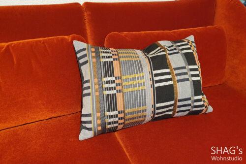 SHAGs Wohnstudio München Decken Wohnen Geschenkartikel ClickandCollect CallandCollect Kissen rechteckig Muster grau orange