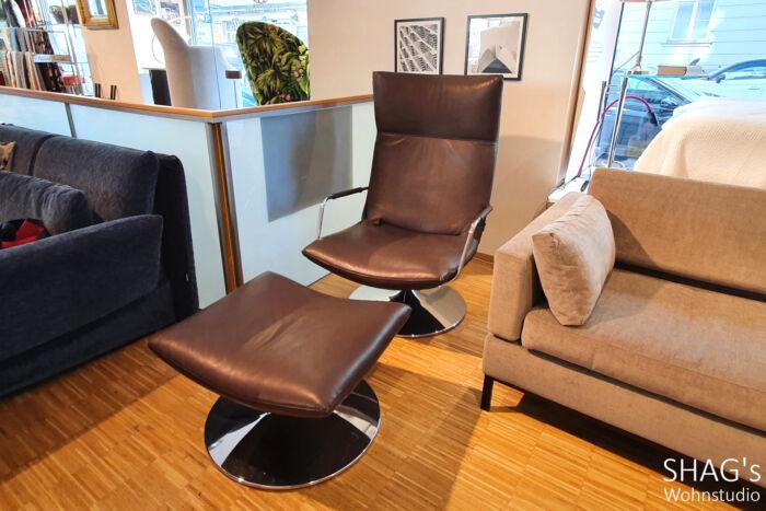 SHAGs Wohnstudio brühl gerard Ausstellungs-Angebote Sessel Relax Hocker Leder Funktionsmöbel Armlehnen